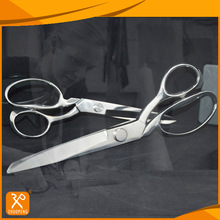 Professional all stainless steel fabric cutting sewing scissors