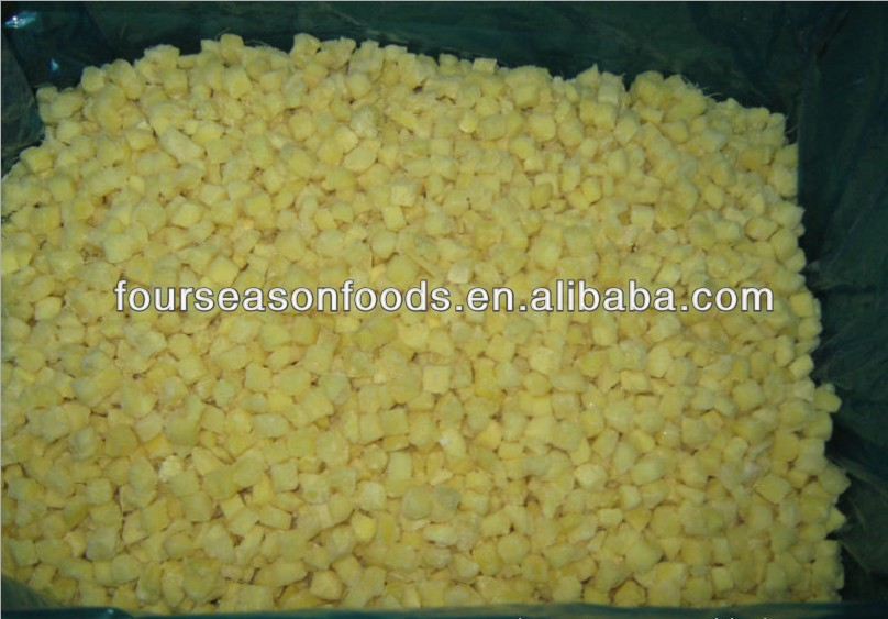 IQF frozen ginger cubes, chinese golden supplier