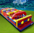 So funny inflatable obstacle