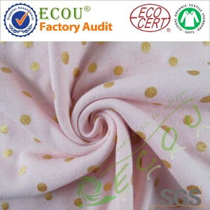 OEM Free sample China supplier interlock 100% organic cotton fabric