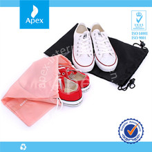 High quality polyester drawstring shoe and bag set