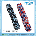 Mix Color T-Shirt Rope Stick Simple Dog Durable Chewing Bone Dog Toy