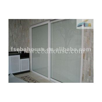 Residential use luxury sliding door with built in blinds for Luxury sliding glass doors