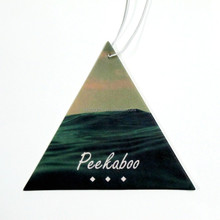 Triangle shaped chewing gum scent hanging paper car air freshner perfume