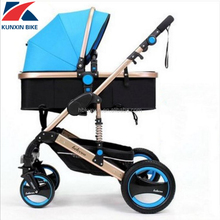 aluminum alloy 3 in 1 baby stroller,baby carriage with rubber damping wheels