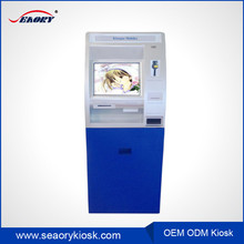 lobby standing currency exchange machine/self service touch screen kiosk terminal