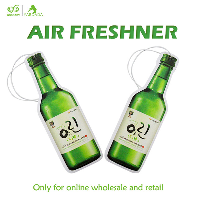Beer shape automotive air freshener, high quality fragrance durable paper air freshener in stock