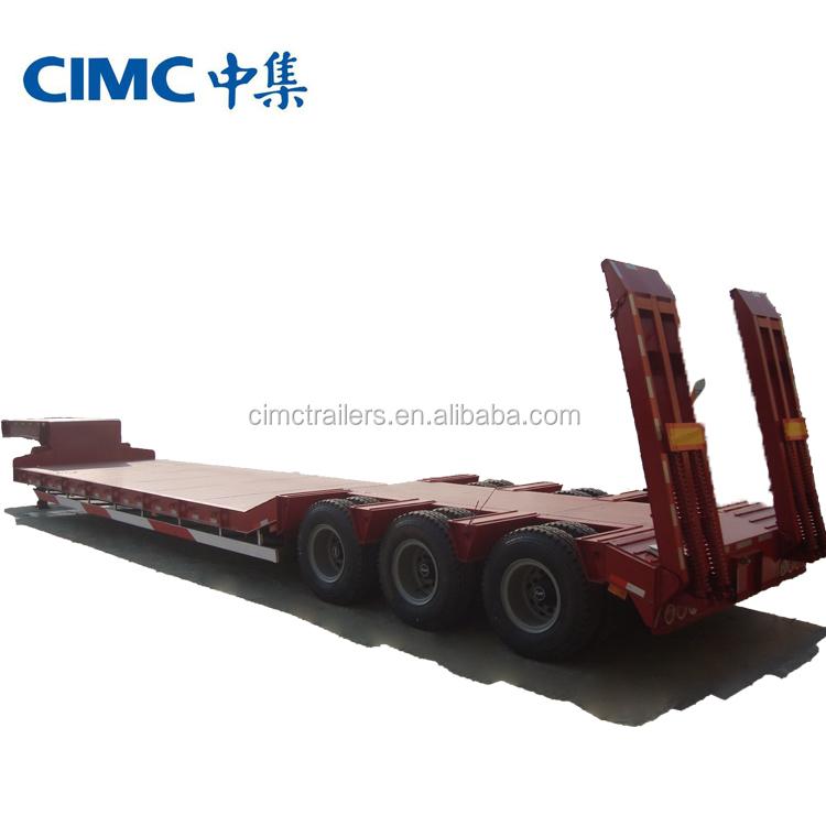 Cimc Marke 3 Achse 40 Tonnen Semi Tieflader Anhänger Für Transport ...