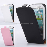 2015 Shemax New model cell phone leather case flip cover for Samsung Galaxy Alpha G8508s