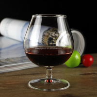 Factory supply new product lead free brandy glass with short stem, Brandy Glass snifter & balloon, wedding brandy snifter