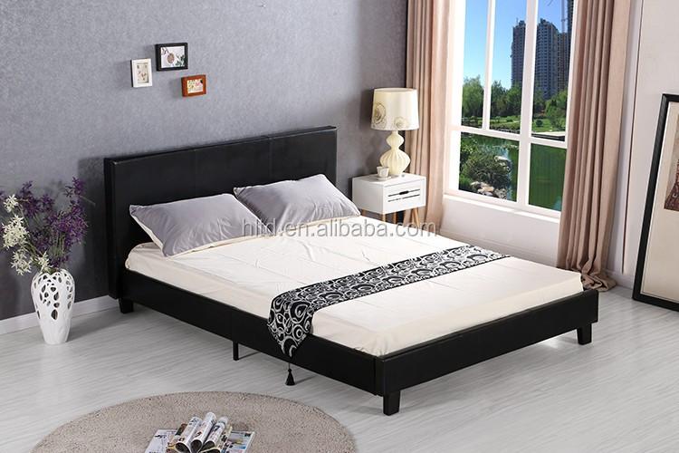 european style bedroom furniture set leather bed modern