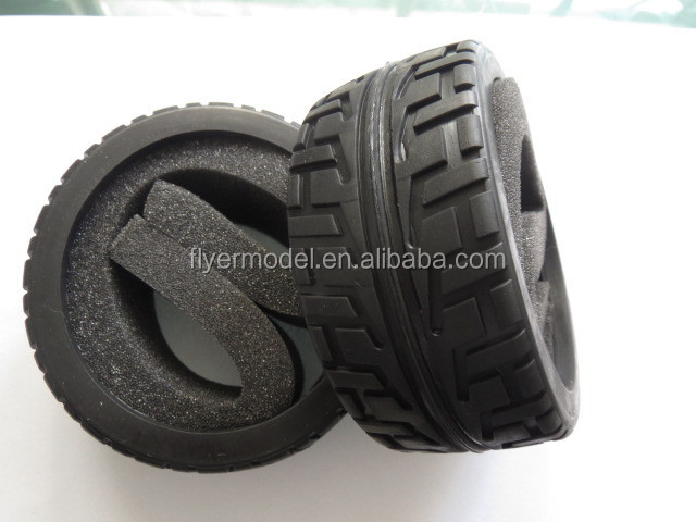 1:8 RC Wheel Rims Rubber Tyres for 1/8th Scale RC Buggy Car(188031-Y)