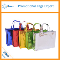 recycled tote bag shopping bag Factory Direct! Various Fabric and Pattern reusable pp woven shop bags