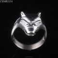 Wolf Design Mens Steel Ring
