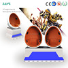 Cool funny 9d machine 360 degree 9d simulator 9d cinema with beautiful LED egg seat