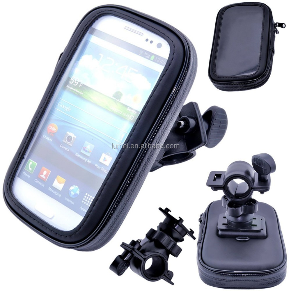 Waterproof Rotating Bicycle Mount Handle Bar Holder Bike Travel Case For HTC One X