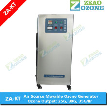 Mobile ozone generator 30g food disinfection o3 machine for cold storage room