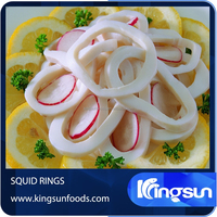 IQF/BQF squid seafood Squid Rings white color