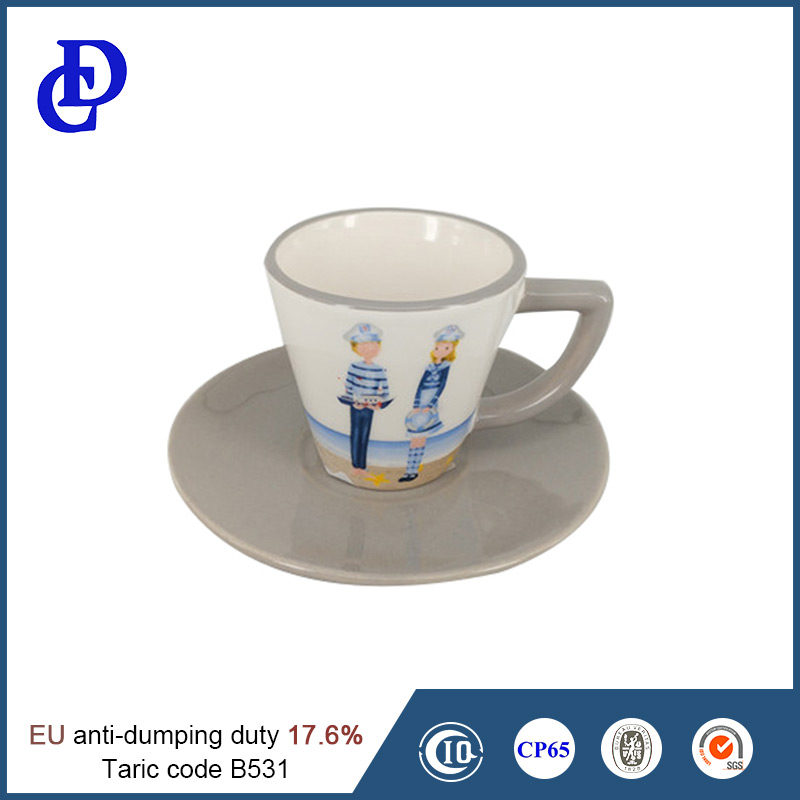 High quality China ceramic tea cup and saucer