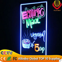 40*60CM transparent glass led writing board with remote control flashing display