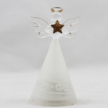delicate design crystal blown glass angel