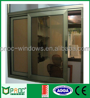 Guangzhou PNOC aluminium sample design sliding window grills