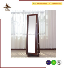 High quality Rotating wooden jewelry cabinet, dressing mirror with cabinet