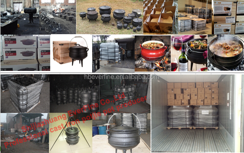 South africa cast iron potjie pot in different size view for Fire pots south africa