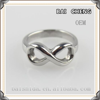Latest design Simple Bow stainless steel ring with Wholesale price jewelry no stone
