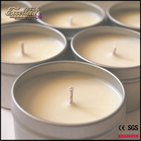 high quality and wholesale paraffin wax tin candle