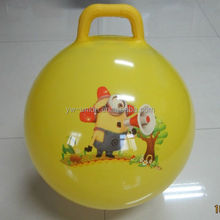 popular yellow PVC inflatable ball with handle
