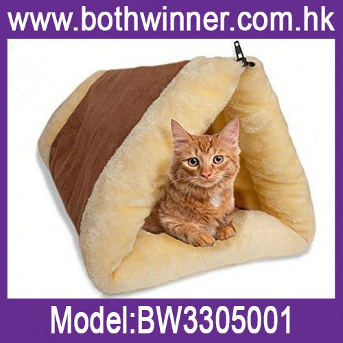 Soft plush cat tunnel cat bed ,h0t3t collapsible dog bed for sale