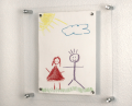 Acrylic wall frame, acrylic photo frame with screw, acrylic hanging photo frame
