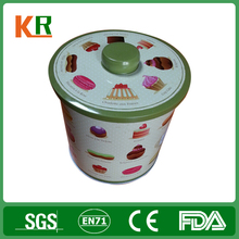 Embossing inner lid biscuit box Cookie Tin Box Packaging