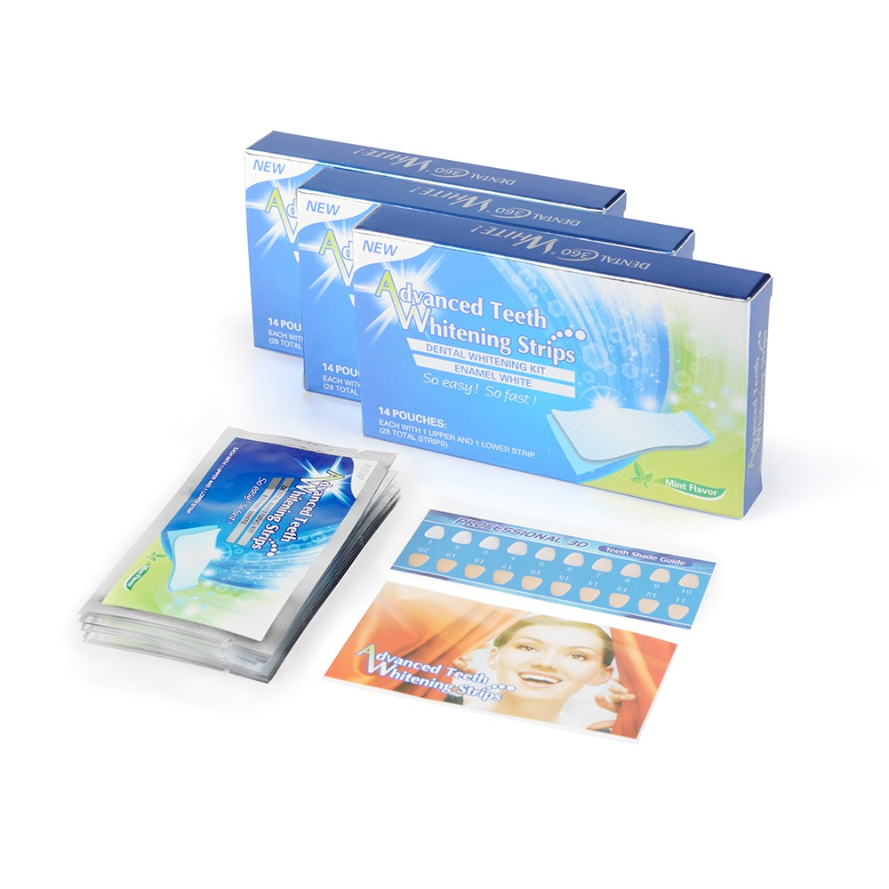 Hot Sale Foil Package Teeth Whitening Strips,Bleach Bright Whitening Teeth