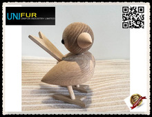 Popular gift/present cheap wholesale small teakwood Sparrow