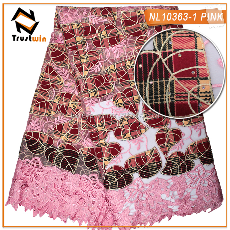 new arrival french net lace cord embroidery tulle lace for weeding
