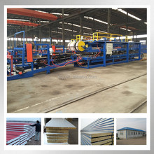 Color Steel EPS Polystyrene Sandwich Composite Mineral Wool Wall Panel & Roof Panels Production Line Roll Former Making Machine