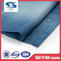 Wash fermentation 100%cotton new light blue male denim jeans fabric