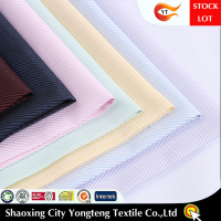 Ready goods, high density cotton polyester yarn dyed stripe shirting fabric