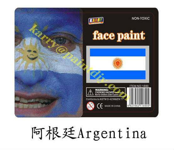 TARGET Audited Supplier,Argentina national flag non-toxic face paint