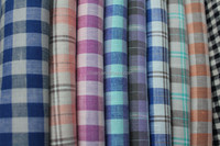 cotton linen yarn dyed check fabric for shirt