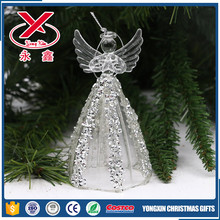 Decorative handmade clear glass angel christmas ornaments