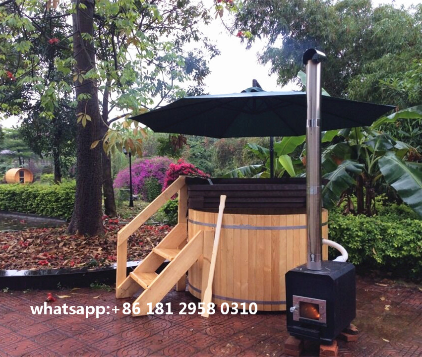 21 year factory Wholesale price for 3-8 person wood fired cedar outdoor hot tub
