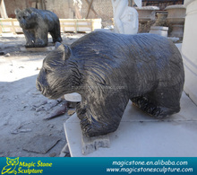 Promotional dancing grave bear statues