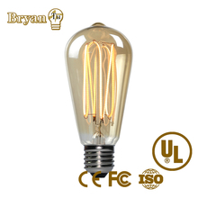 China suppliers retro design st64 led vintage filament e27 8w 4w 6w 10w led light bulb
