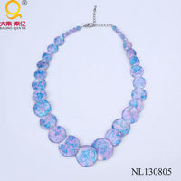 fashion jewelry 2014 necklace shell
