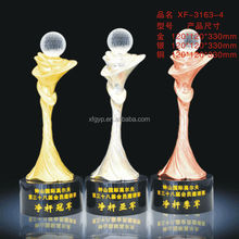 Gold & Silver & Bronze Ball Trophy Cup In Metal Material