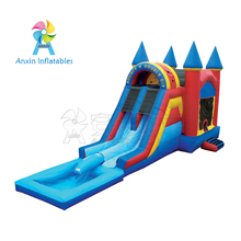 Commercial party hire bouncing combo jumping castles inflatable water slide