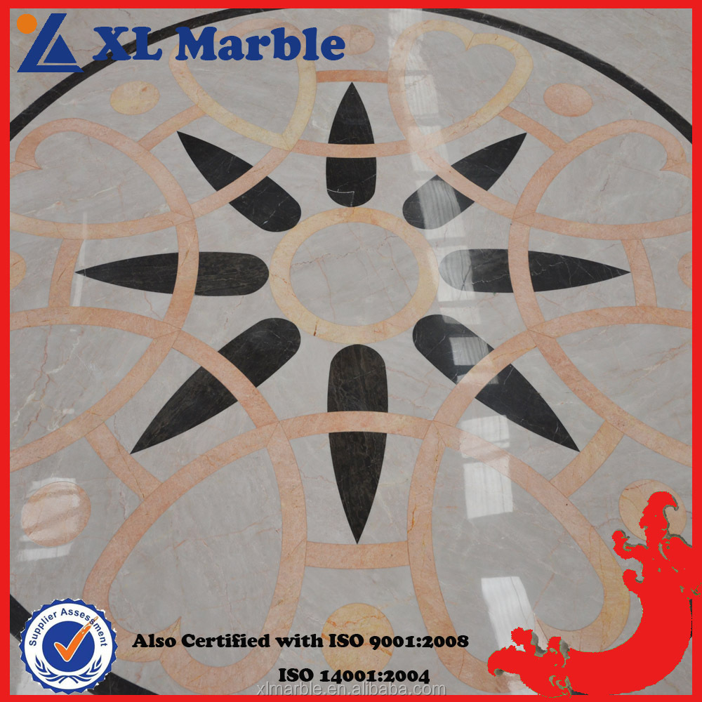 Custom Made Pattern Flooring Red Granite